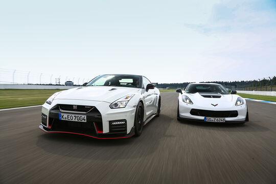 Nissan GT-R Nismo, Corvette Z06, Exterieur