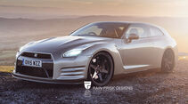 Nissan GT-R - Photoshop - Shooting Brake - Rain Prisk 2015