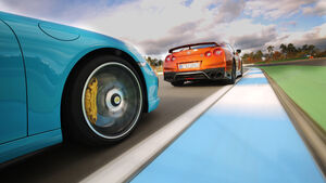Nissan GT-R, Porsche 911 Turbo, Hockenheim