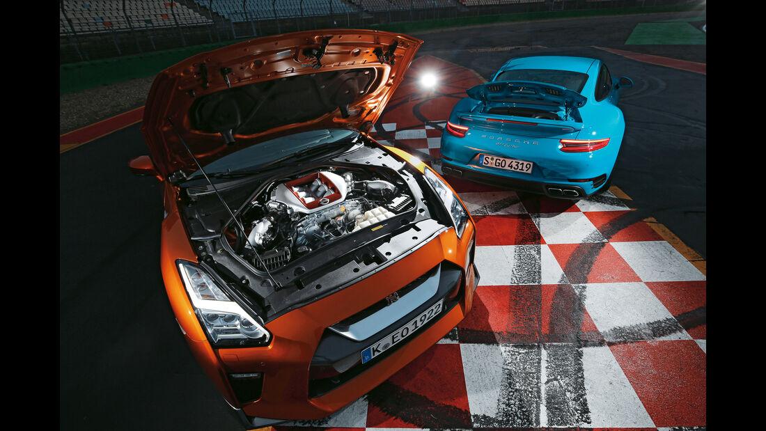Nissan GT-R, Porsche 911 Turbo, Motor