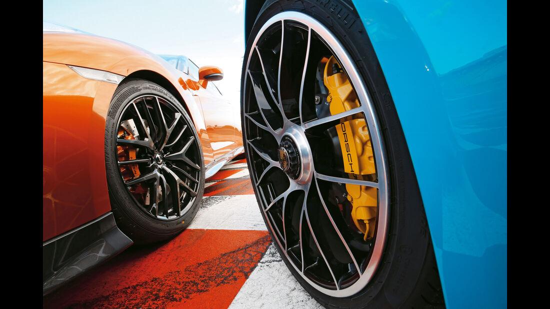 Nissan GT-R, Porsche 911 Turbo, Rad, Felge