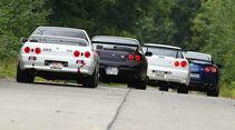 Nissan GT-R, verschiedene Modelle, Heck