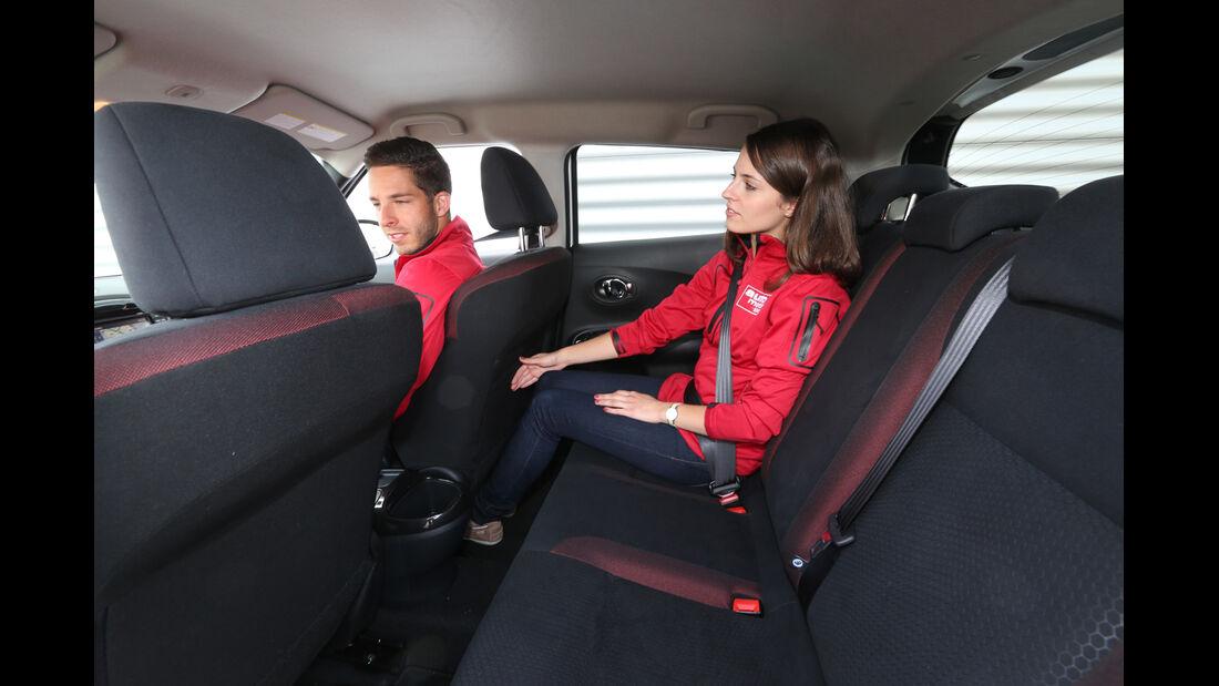 Nissan Juke 1.5 dCi, Rücksitz, Beinfreiheit
