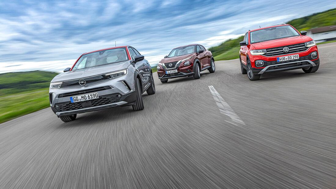 Nissan Juke, Opel Mokka, VW T-Cross