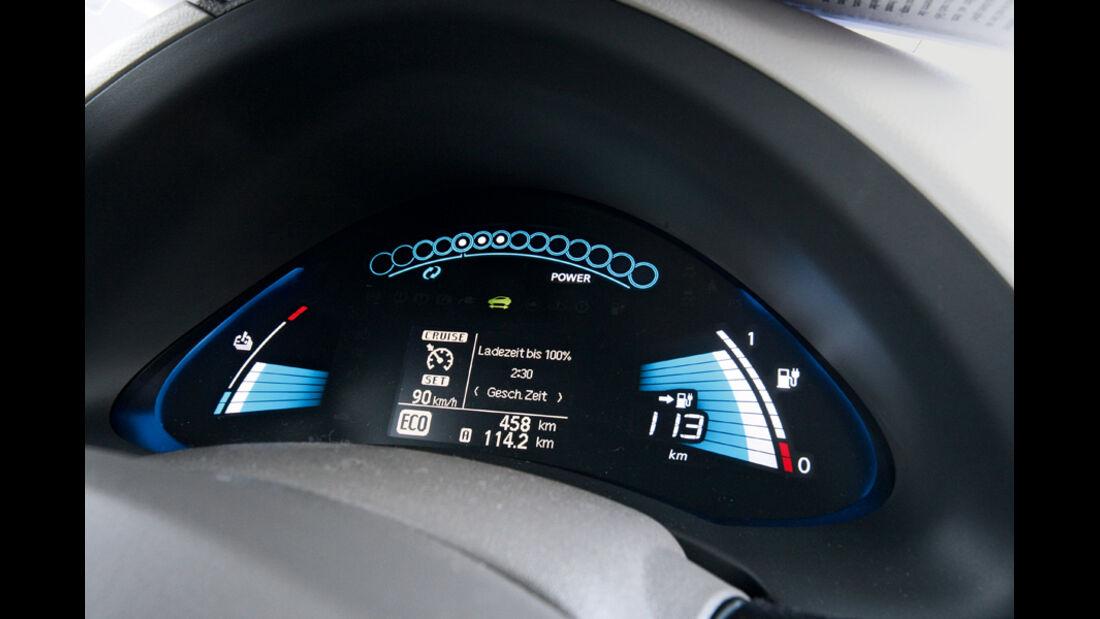 Nissan Leaf, Display, Tacho