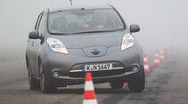 Nissan Leaf, Frontansicht, Slalom