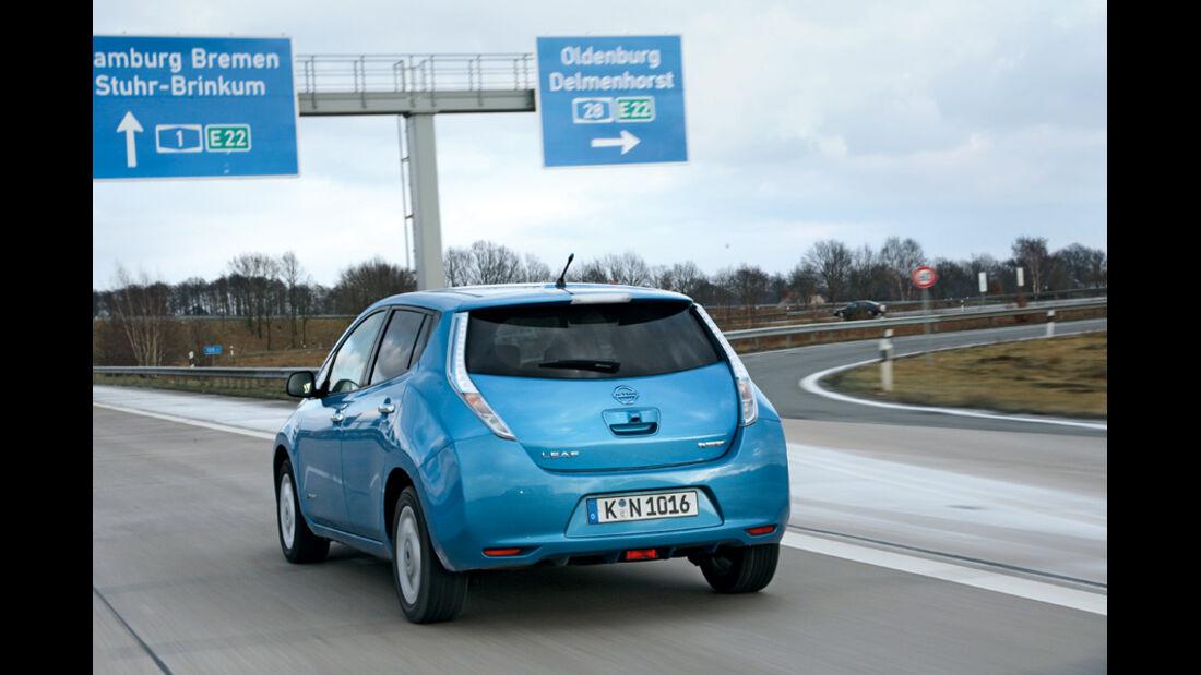 Nissan Leaf, Heck, Autobahn