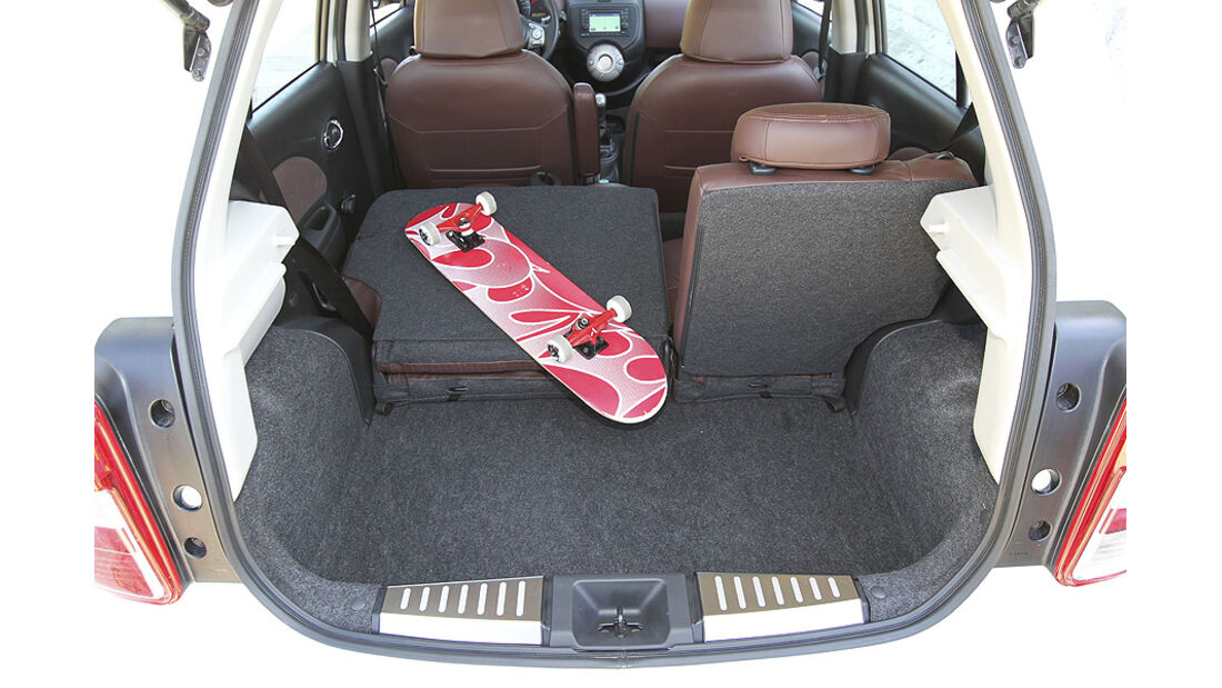 Nissan Micra 1.2 DIG-S ams 16/11, Kofferraum
