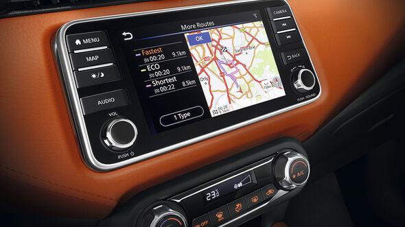 Nissan Micra Infotainmentsystem