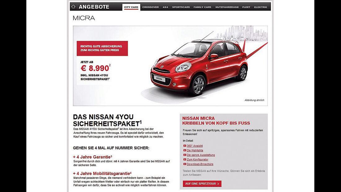 Nissan Micra, Werbung