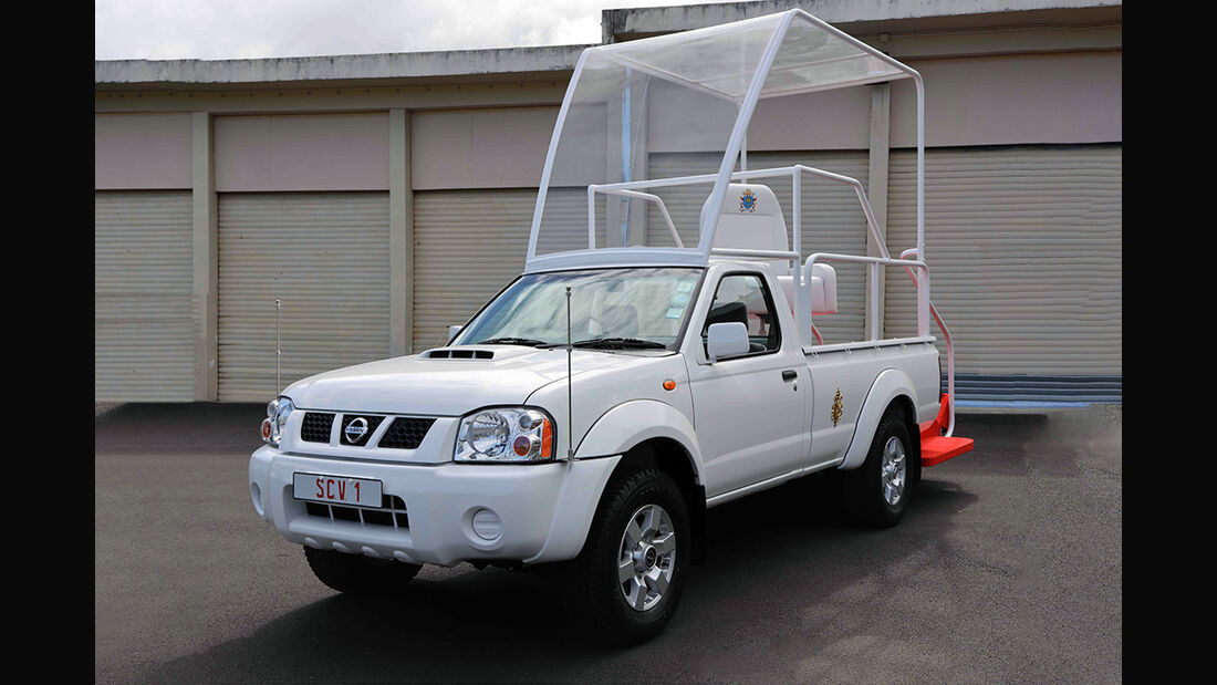 Nissan NP300 Popemobile, Papst, Papamobil
