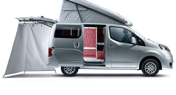 nissan nv 200 evalia reisemobil stadtindianer: 8 qm mobiles heim
