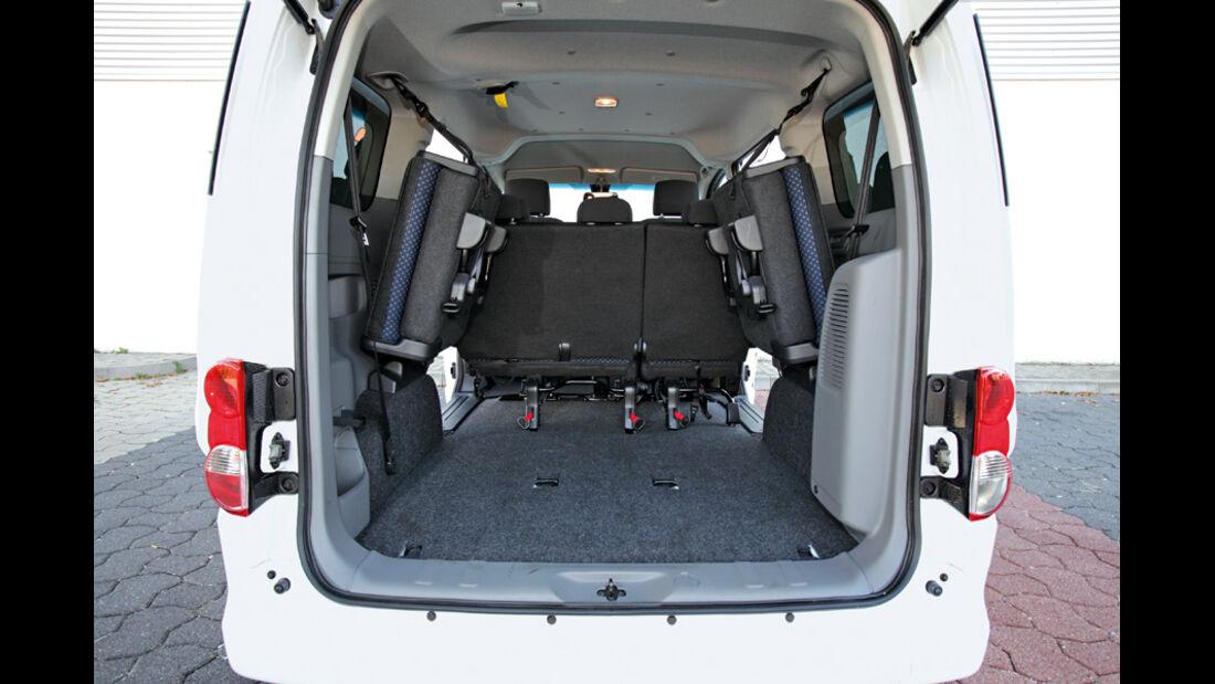Nissan NV 200 Evalia dCi 110, Kofferraum