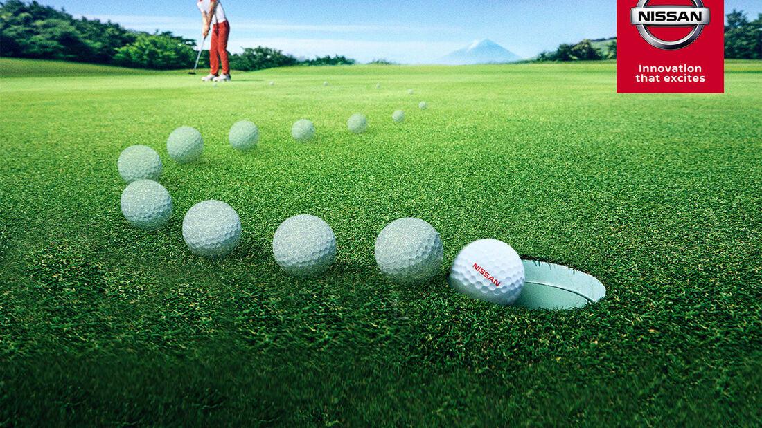 Nissan Pro Pilot II Golfball autonom Studie