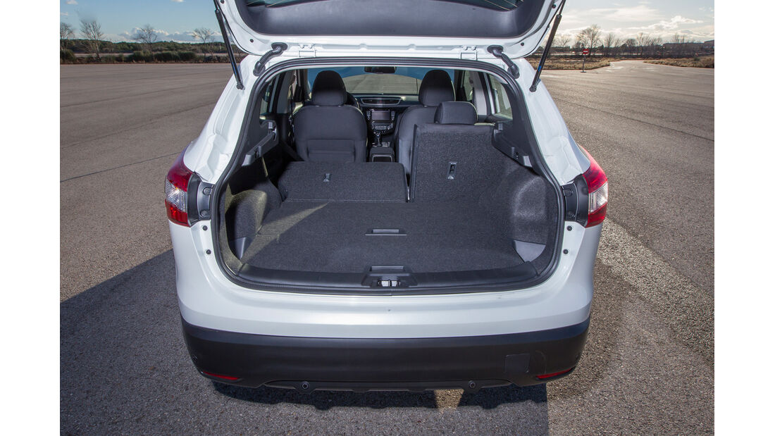 Nissan Qashqai 1.5 dCi, Kofferraum, Ladefläche