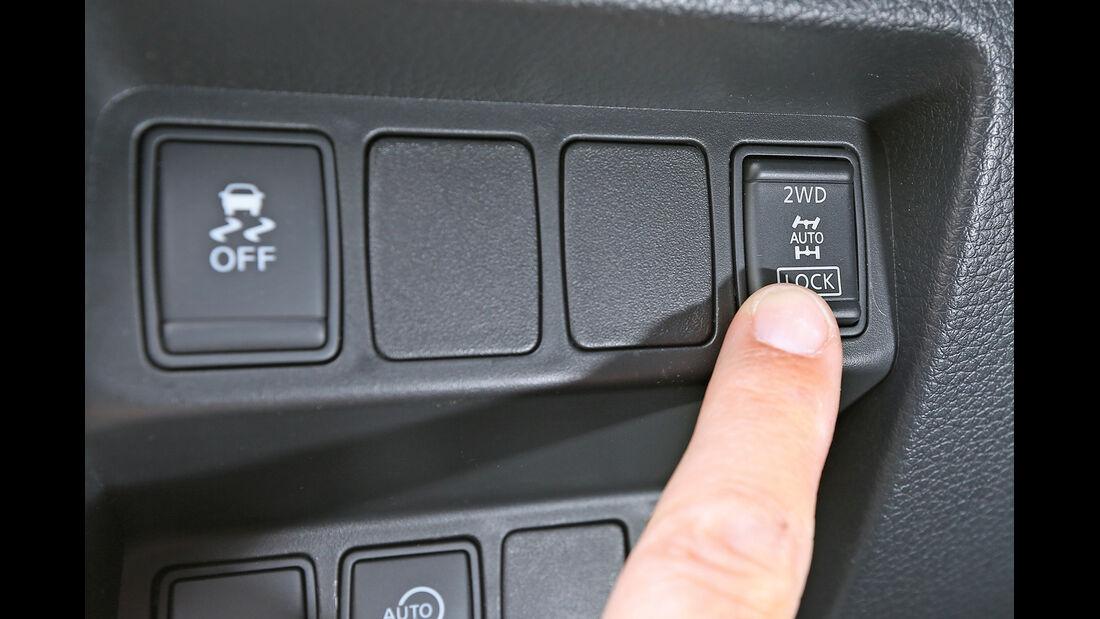 Nissan Qashqai 1.6 dCi 4x4, Bedienelemente