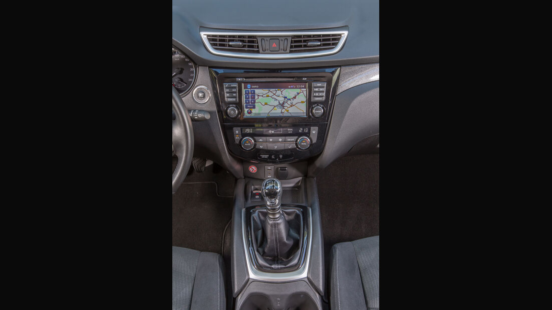 Nissan Qashqai 1.6 dCi 4x4, Mittelkonsole