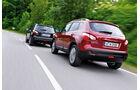 Nissan Qashqai 2.0, Nissan Qashqai 2.0dCi, Rückansicht, Heckansicht