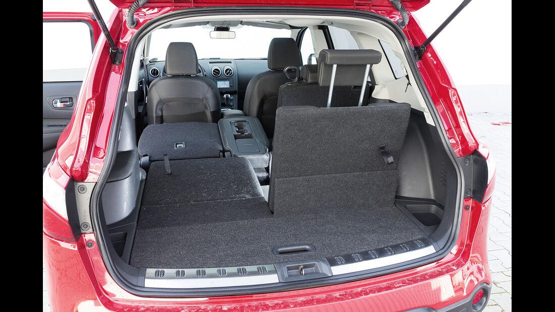 Nissan Qashqai +2 2.0 dCi, Kofferraum, Ladefläche