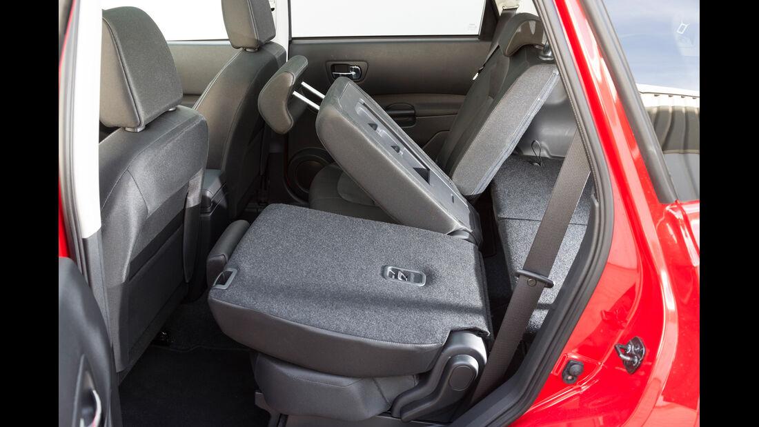 Nissan Qashqai +2 2.0 dCi, Rücksitz, umklappen
