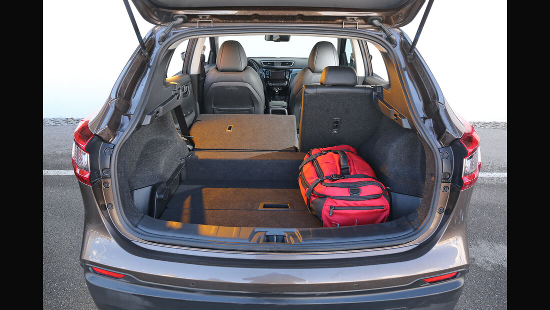 Nissan Qashqai, Kofferraum