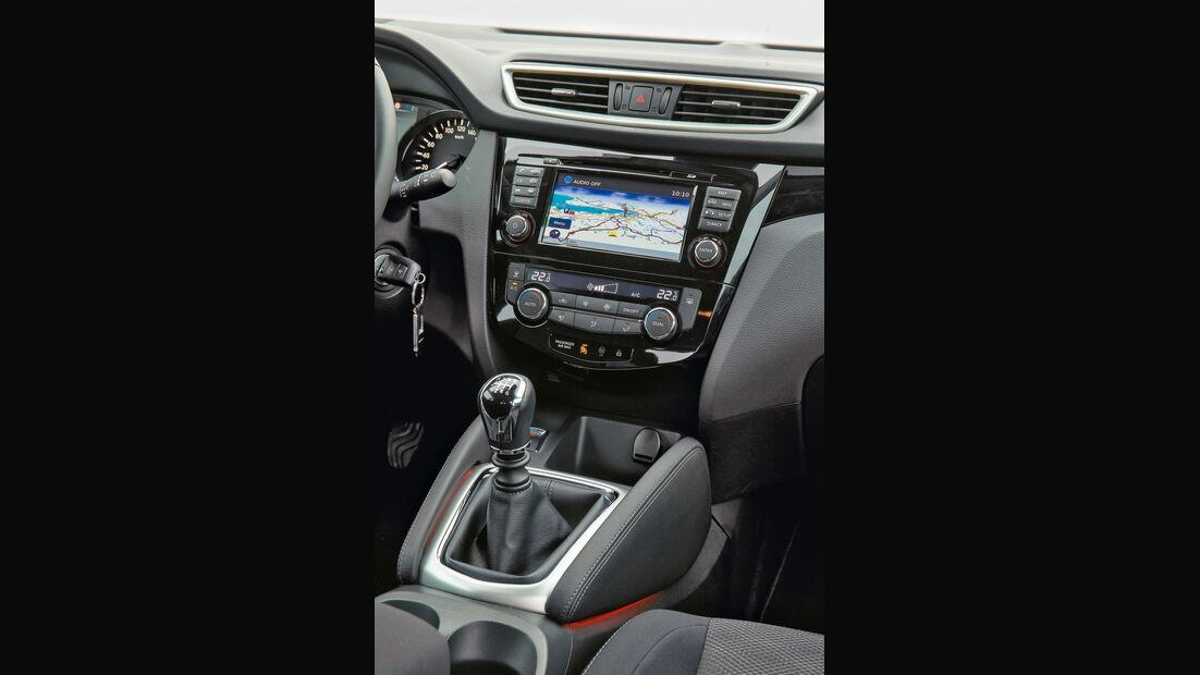 Nissan Qashqai, Mittelkonsole