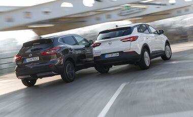 Nissan Qashqai, Opel Grandland X, exterieur