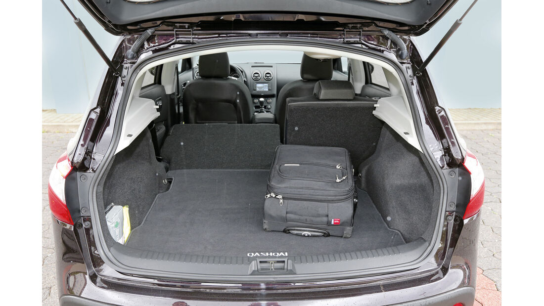 Nissan Qashqai dCi 130, Ladefläche, Kofferraum
