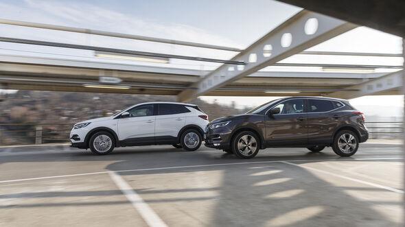 Nissan Quashqai 1.3 DIG-T, Opel Grandland X 1.2 DI Turbo, Exterieur