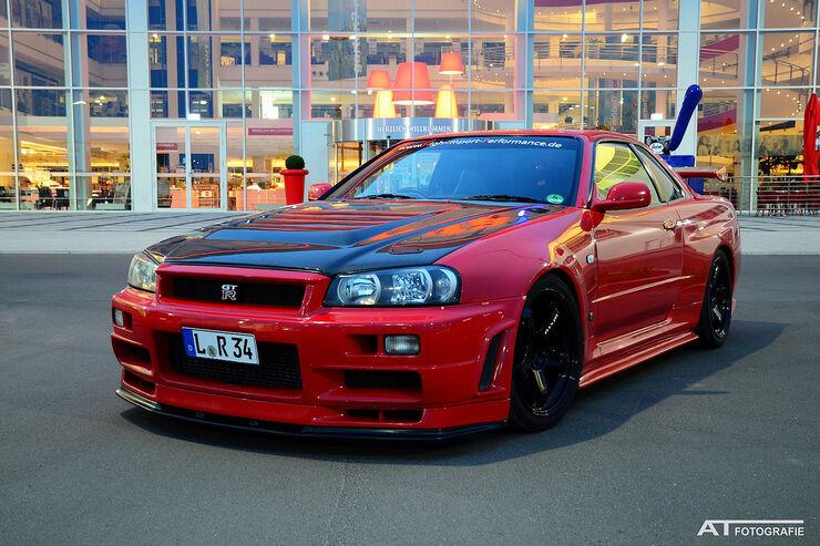 Nissan Skyline R34 Gt R Der Blutrote J 228 Ger Mit 630 Ps