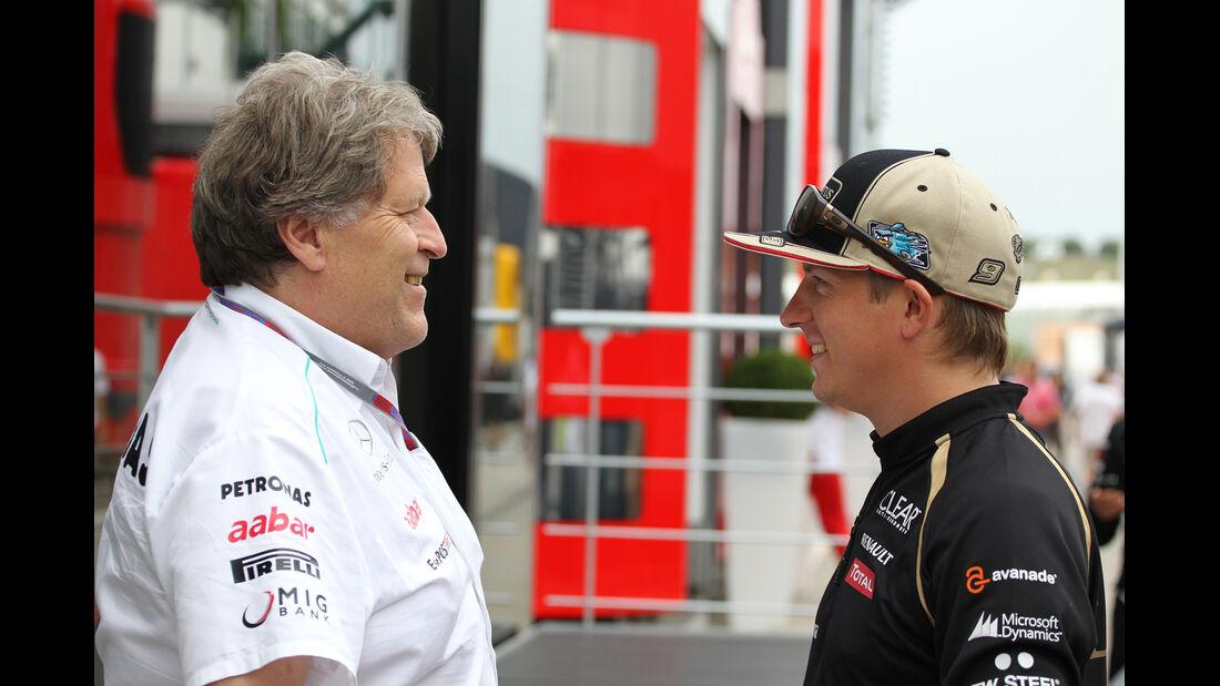 Norbert Haug - Kimi Räikkönen - Formel 1 - Budapest - GP Ungarn - 26. Juli 2012