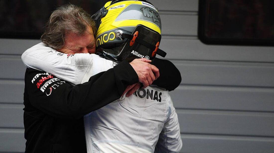 Norbert Haug - Nico Rosberg  - Formel 1 - GP China - 15. April 2012