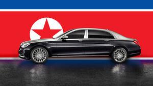 Nordkorea Luxusautos Schiff Route