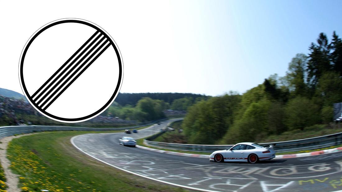 Nordschleife, Nürburgring, Geschwindigkeits-Begrenzung aufgehoben