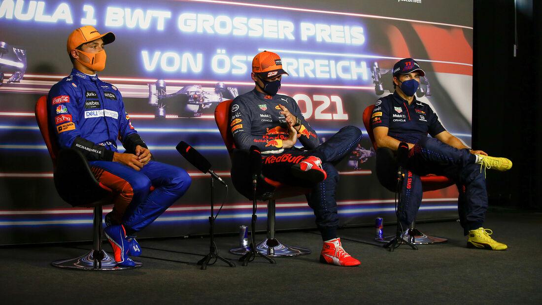 Norris - Verstappen - Perez - GP Österreich 2021 - Spielberg - Qualifikation