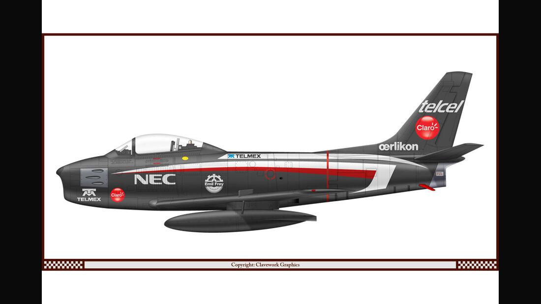North American F86F - Sauber - Racing-Planes - 2015