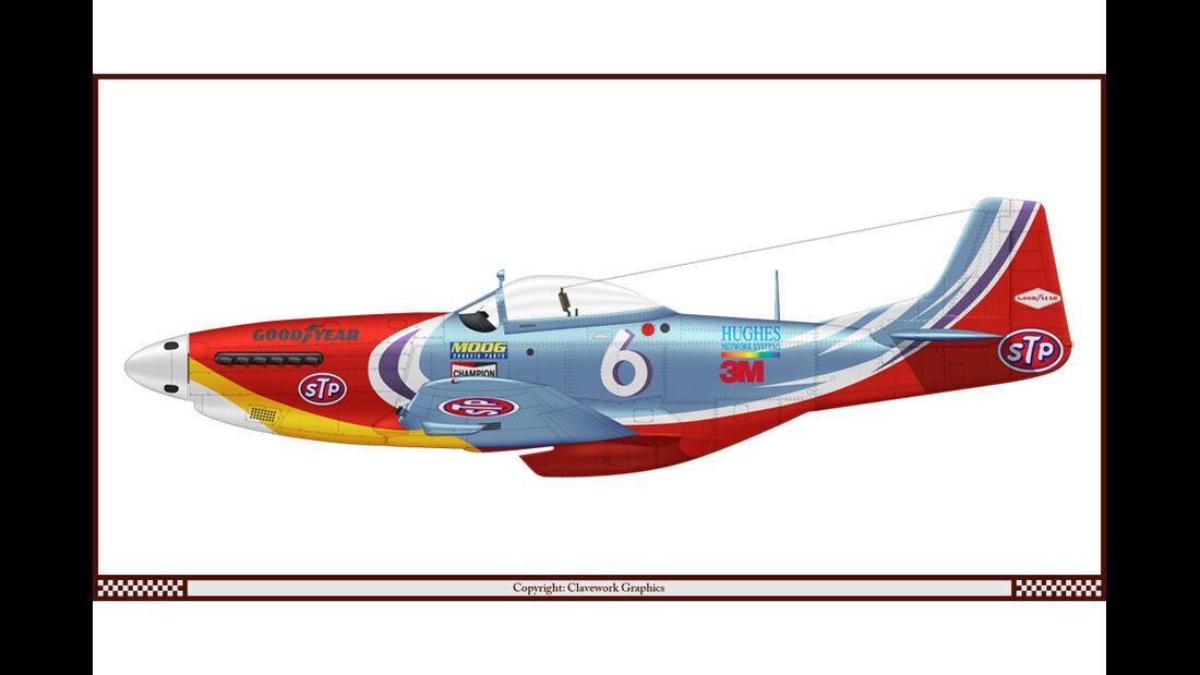 North American P-51D Mustang - Nacar STP - Racing-Planes - 2015