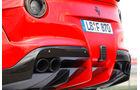 Novitec-Ferrari F12 N-Largo, Auspuff, Endrohre