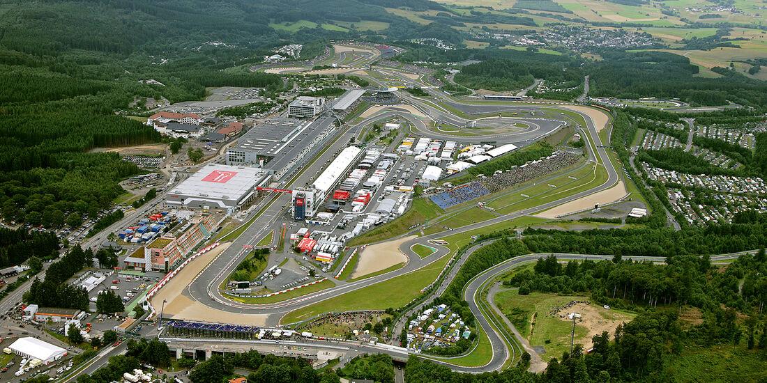 Nürburgring, Grüne Hölle, Luftaufnahme