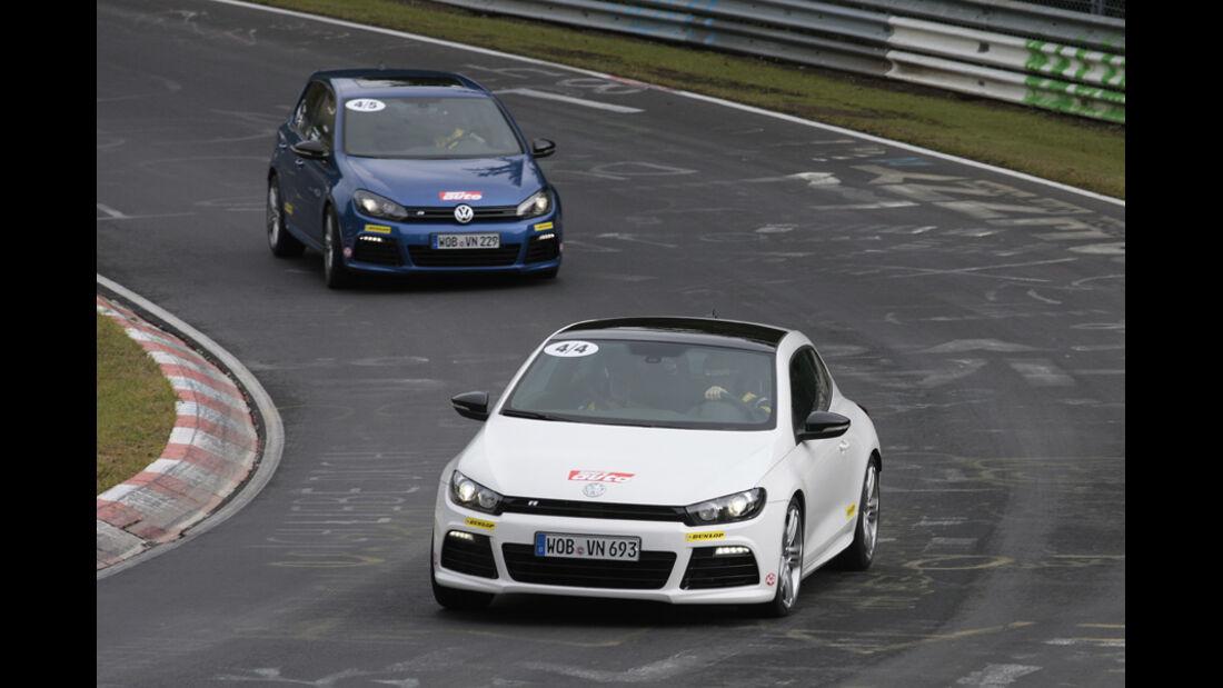 Nürburgring, VW Golf R, VW Scirocco R