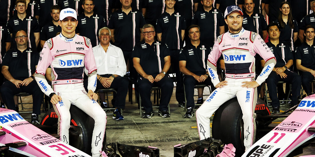 Ocon & Perez - Force India - Formel 1 - GP Abu Dhabi  -24. November 2018