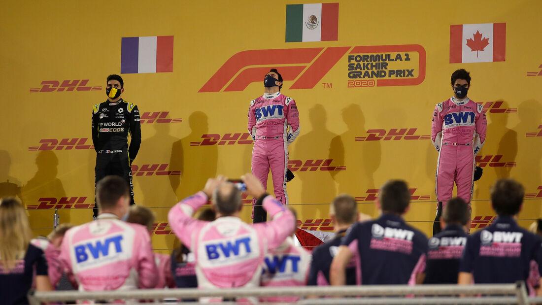 Ocon - Perez - Stroll - GP Sakhir 2020 - Bahrain - Rennen