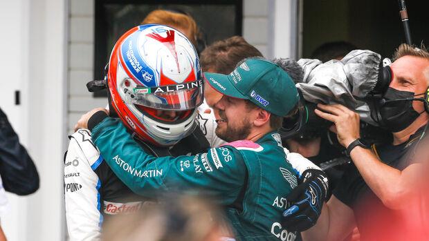 Ocon - Vettel - GP Ungarn 2021 - Budapest - Rennen