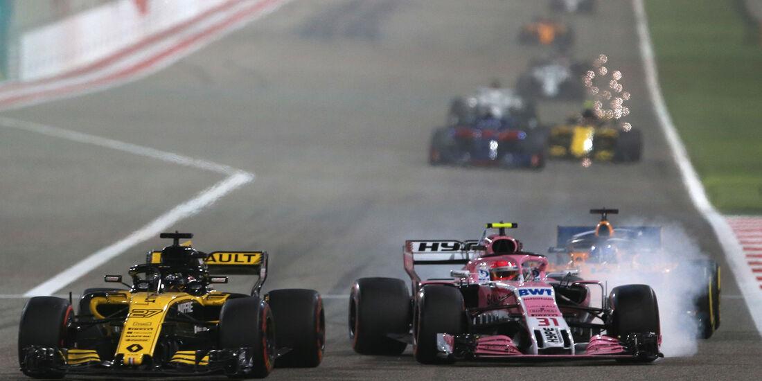 Ocon vs. Hülkenberg - Formel 1 - GP Bahrain 2018