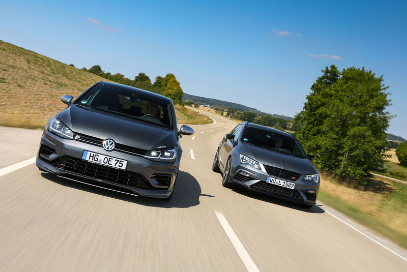 Oettinger-VW Golf R - Wetterauer-Seat Leon Cupra - Tuning - Kompaktsportwagen - sport auto 10/2018