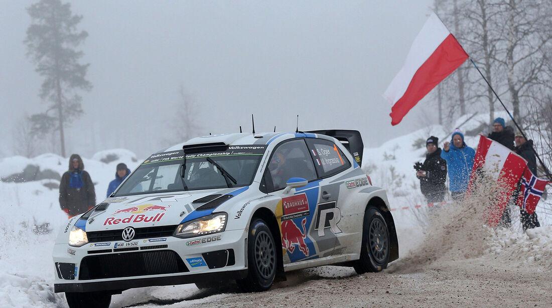 Ogier, VW Polo R WRC, Rallye Schweden 2014
