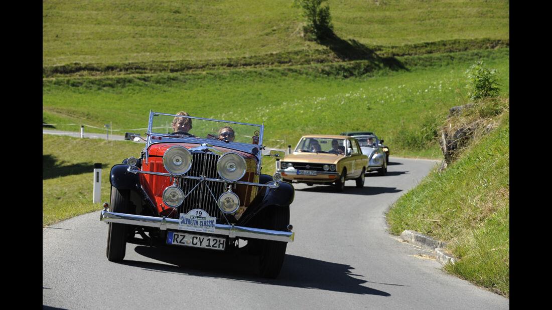Oldtimer auf Bergstraße -  Silvretta Classic 2010