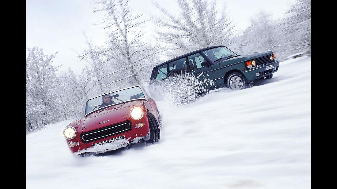 Oldtimer im Schnee