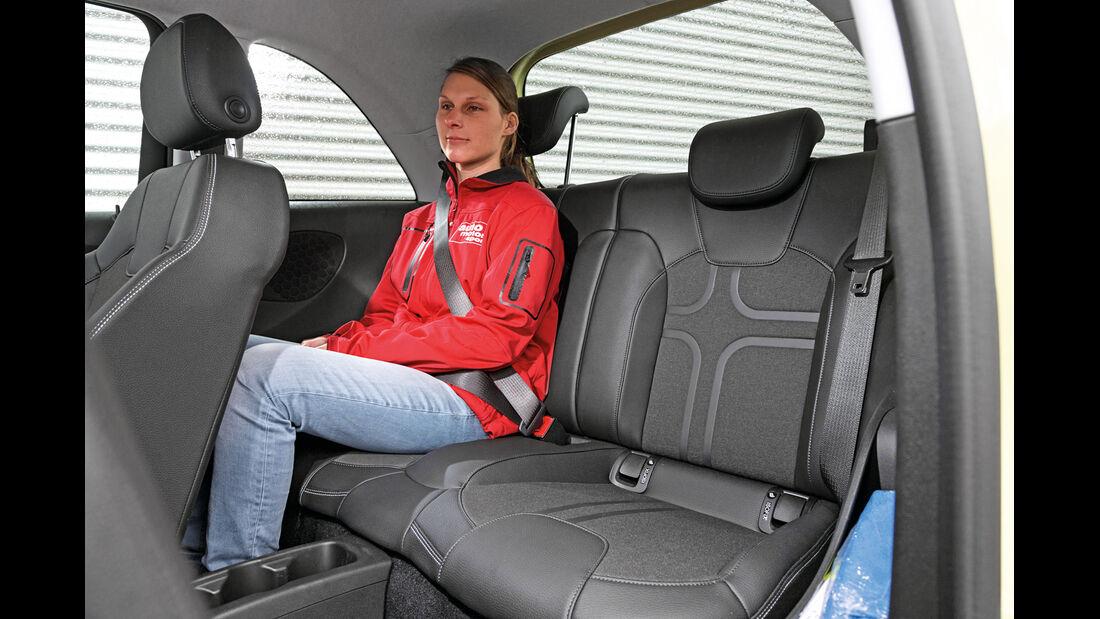 Opel Adam 1.0 DI Turbo, Fondsitz, Beinfreiheit