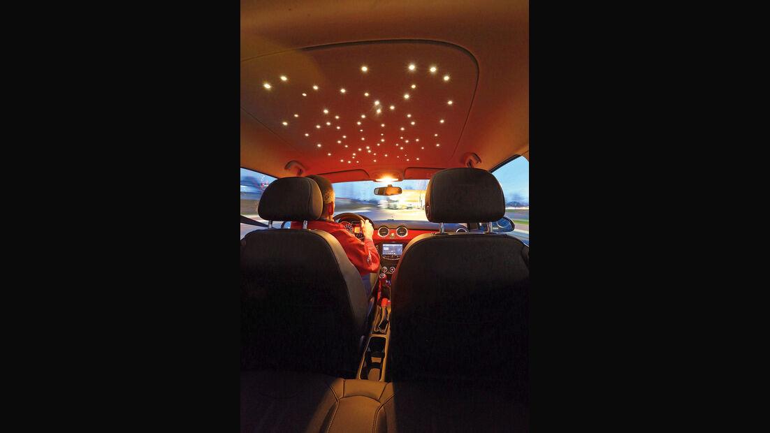 Opel Adam 1.4, Innenbeleuchtung, Ambiente-Lichter